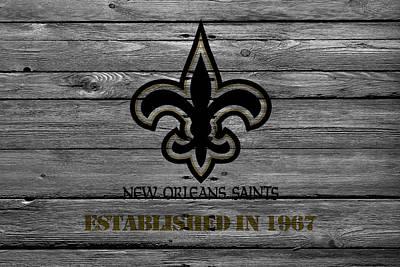 Present Photograph - New Orleans Saints by Joe Hamilton