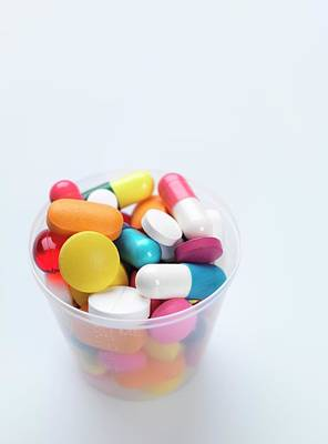 Healthcare-and-medicine Photograph - Pills by Tek Image
