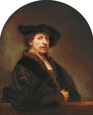 Self-portrait Photograph - Rembrandt, Harmenszoon Van Rijn, Called by Everett
