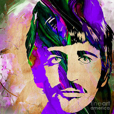 The Beatles Mixed Media - Ringo Starr Collection by Marvin Blaine