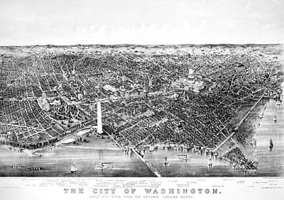 Washington Monument Painting - Washington D by Granger