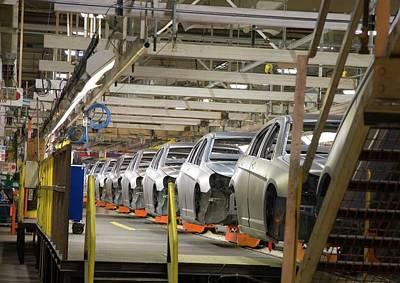Production Photograph - Car Assembly Production Line by Jim West