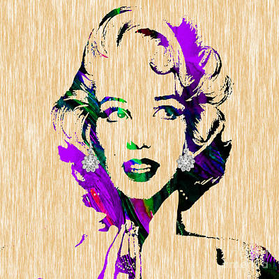 Hollywood Mixed Media - Marilyn Monroe Diamond Earring Collection by Marvin Blaine