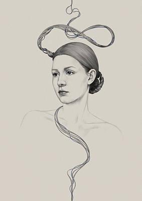 Hair Drawing - 268 by Diego Fernandez