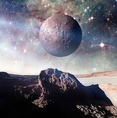 Cosmological Photograph - Alien Planet by Detlev Van Ravenswaay