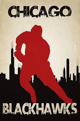 Chicago Blackhawks Print by Joe Hamilton