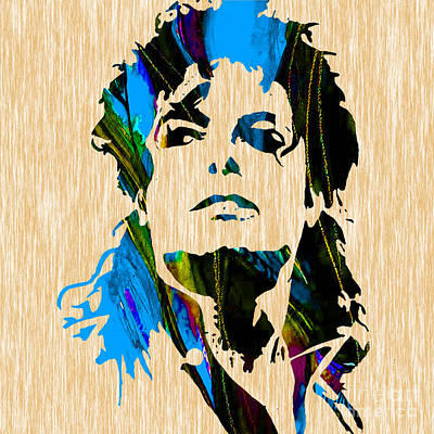 Michael Jackson Print by Marvin Blaine