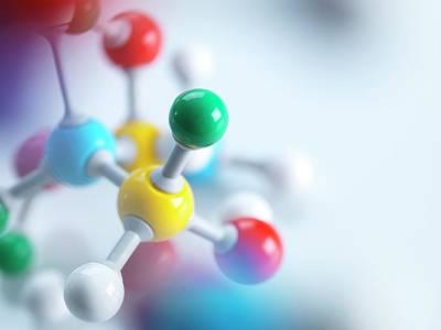 Molecular Model Photograph - Molecular Model by Tek Image