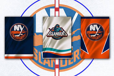 Flags Photograph - New York Islanders by Joe Hamilton