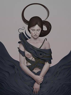 Hair Painting - 274 by Diego Fernandez