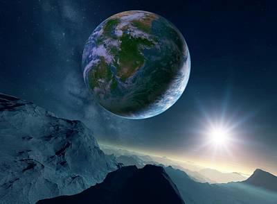 Earth-like Alien Planet Print by Detlev Van Ravenswaay