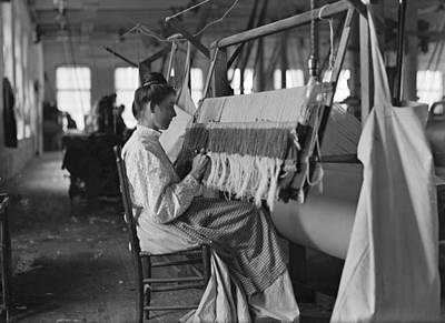 Handloom Photograph - Hine Child Labor, 1908 by Granger