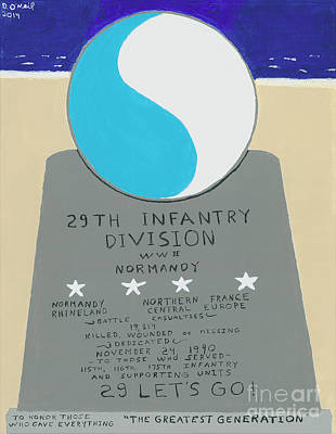 29th Infantry Print by Dennis ONeil