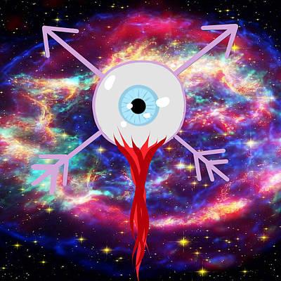 2d Arrowed Eyeball Print by Carly Ceasar-Brown
