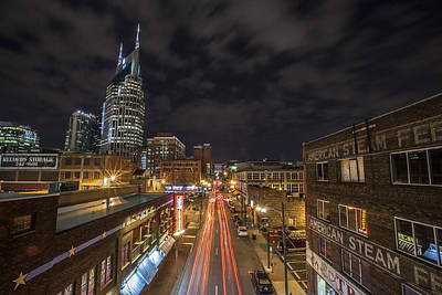 Downtown Nashville Photograph - 2nd Ave And Broadway by CJ Schmit