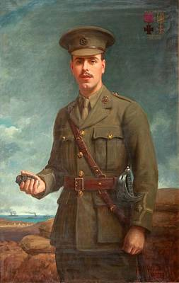 World War One Painting - 2nd Lieutenant Alfred Victor Smith, Vc by Isaac Cooke