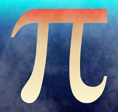 Pi Digital Art - 2Pi by Ron Hedges