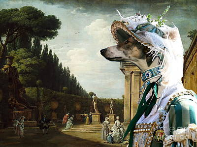 Greyhound Painting -  Chart Polski - Polish Greyhound Art Canvas Print by Sandra Sij