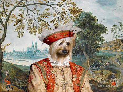 Silky Terrier Painting -  Silky Terrier Art Canvas Print by Sandra Sij