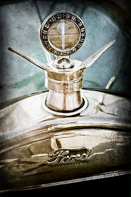1923 Ford Model T Hood Ornament Print by Jill Reger