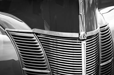 1940 Ford Deluxe Coupe Grille Print by Jill Reger