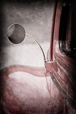 1940 Ford Deluxe Coupe Rear View Mirror Print by Jill Reger