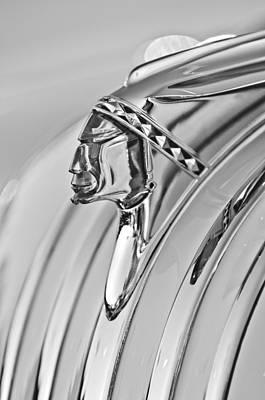 1948 Pontiac Chief Photograph - 1948 Pontiac Chief Hood Ornament by Jill Reger