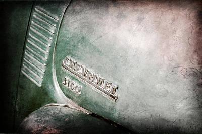 1949 Chevrolet 3100 Pickup Truck Emblem Print by Jill Reger