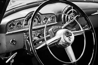 1950 Pontiac Steering Wheel Emblem Print by Jill Reger