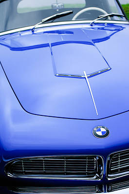 2013 Photograph - 1958 Bmw 507 Series II Roadster Hood Emblem by Jill Reger