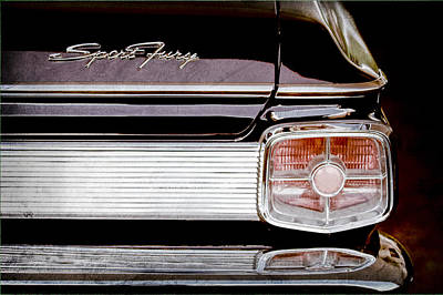 Fury Photograph - 1963 Plymouth Sport Fury Taillight Emblem by Jill Reger