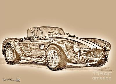 Mccombie Mixed Media - 1965 Shelby Ac Cobra by J McCombie