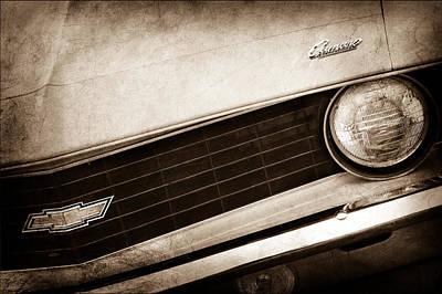 1969 Photograph - 1969 Chevrolet Camaro Copo Replica Grille Emblems by Jill Reger