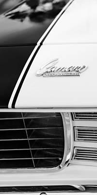 Indy Car Photograph - 1969 Chevrolet Camaro Rs-ss Indy Pace Car Replica Hood Emblem by Jill Reger