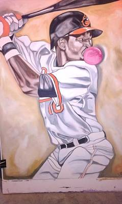 Cal Ripken Painting - 3-2 Pitch by Lynde Washington