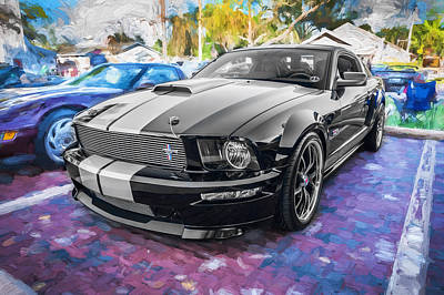 2007 Ford Mustang Shelby Gt Painted  Print by Rich Franco