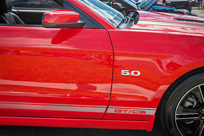 Special Edition Photograph - 2013 Ford Mustang Gt Cs Painted  by Rich Franco