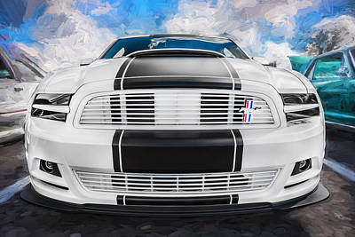 Special Edition Photograph - 2014 Ford Mustang Gt Cs Painted  by Rich Franco