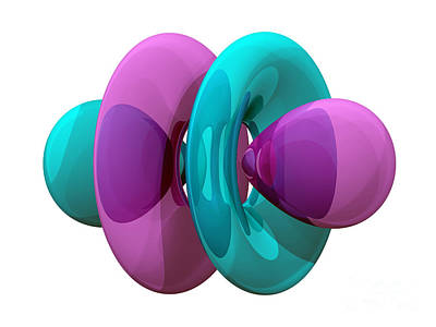 4fz3 Electron Orbital Print by Laguna Design
