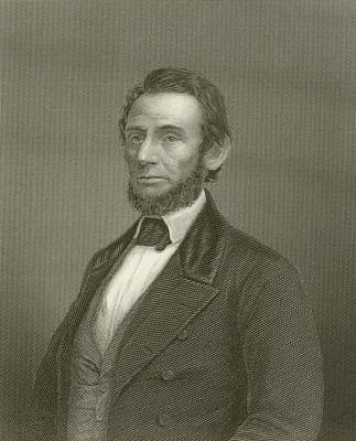Abraham Lincoln Print by English School