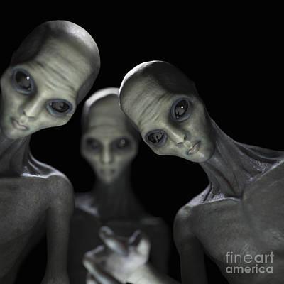 Abduction Photograph - Alien Abduction by Science Picture Co