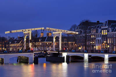 Netherlands Photograph - Amsterdam At Night by Sara Winter