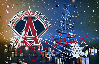 Anaheim Angels Print by Joe Hamilton