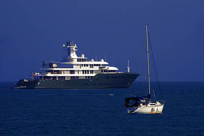 Riviera Photograph - Antibes - Superyachts Of Billionaires by Christine Till