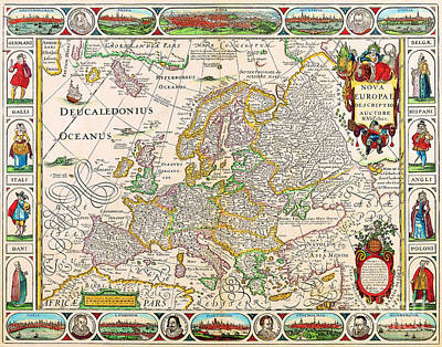 Map Painting - Antiquie Map by Baltzgar