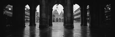 Arcade Of A Building, St. Marks Square Print by Panoramic Images