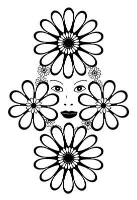 Graphic Drawing - Art Nouveau Woman by Frank Tschakert