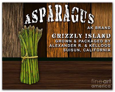 Asparagus Mixed Media - Asparagus Farm by Marvin Blaine