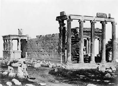 Greek Goddess Nike Photograph - Athens Erechtheion by Granger