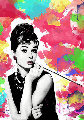 Audrey Hepburn Digital Art - Audrey Hepburn by Cool Canvas